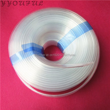 Eco solvent printer ink tube 4*3mm 8 lines transparent for Xuli X-Roland Mimaki Mutoh Xenons Locor ink hose factory 10M
