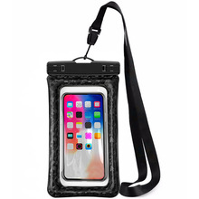 Waterproof Phone Pouch Floating, IPX8 Universal Case Underwater Dry Bag Compatible for X/8/8plus/7/7plus/6s/6