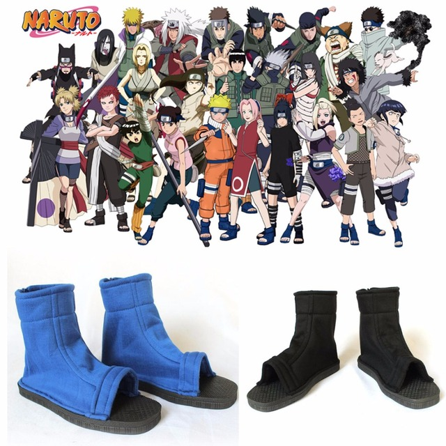 82d88a2aced5c US $15.99 |Anime fashion Cosplay Shoes Top naruto cosplay Konoha Ninja  Village Black Blue Sandals Boots Costumes Halloween Gift new-in Shoes from  ...