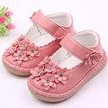 Miyuebb kid fashion girl shoes flor hecha a mano de niños de las muchachas de la pu shoes//