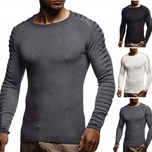 ZOGAA Slim Sweater Men 2019 Autumn Thin O-Neck Knitted Pullover Casual Solid Mens Sweaters Pull Homme mens sweater