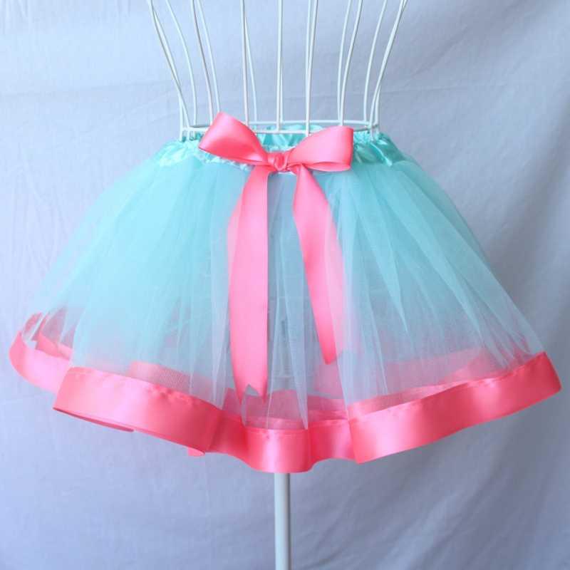 2e9815e81 ... Bebé niñas vestido de cinta falda de tul Niña 3 capa Tutu falda  princesa Mini baile ...