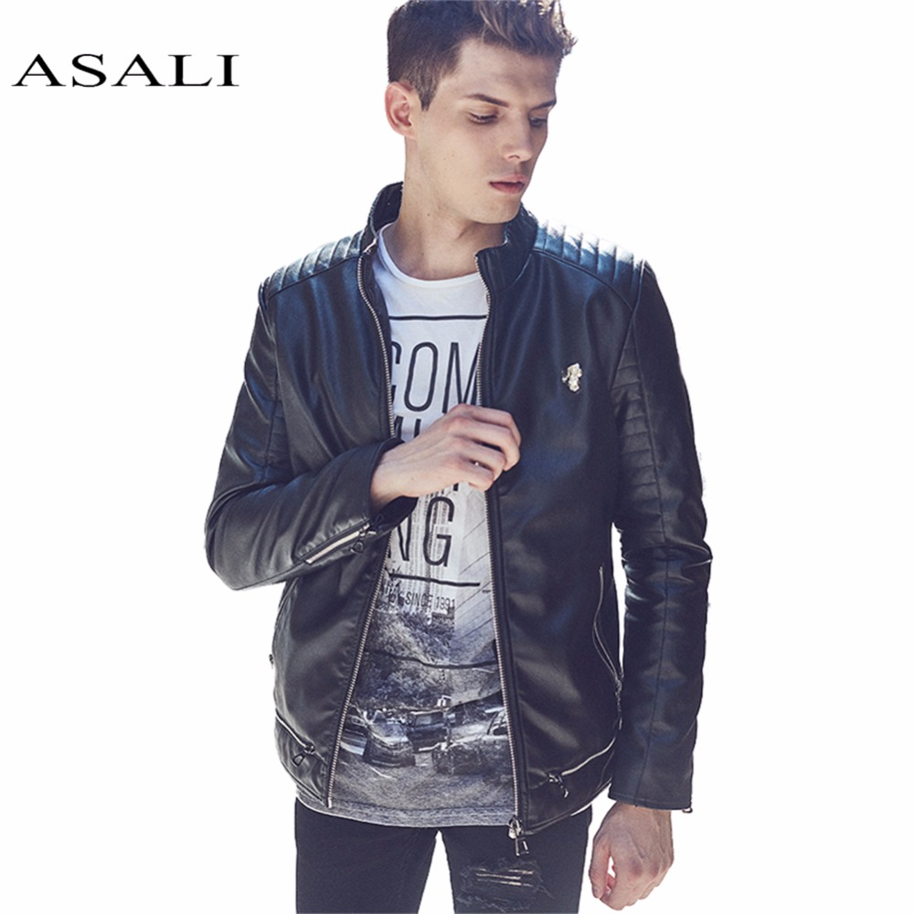 ASALI PU Leather Jacket Men Brand Luxury Casual Suede Jacket Mens Motorcycle Jackets Coats Jaqueta Couro Men Leather Garment