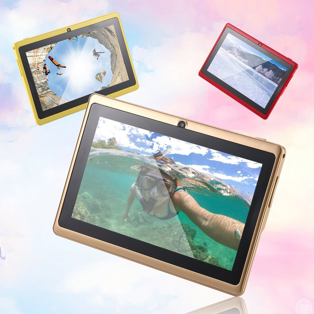 7 Inch Quad-core Tablet Computer Q88h All-in A33 For Android 4.4wifi Internet Bluetooth 512MB+4GB 8GB 220-240V EU/US Plug