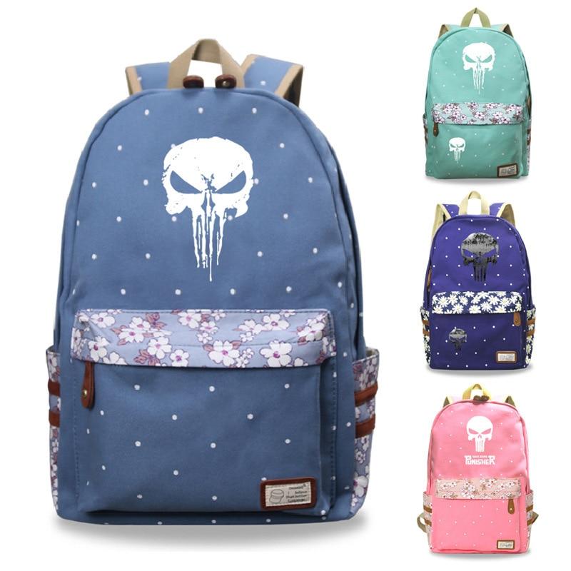 Marvel The Punisher School Backpack Bags Bookbag Cosplay Girls Women Shoulder Travel Bags Fashion Casual BagsMarvel The Punisher School Backpack Bags Bookbag Cosplay Girls Women Shoulder Travel Bags Fashion Casual Bags