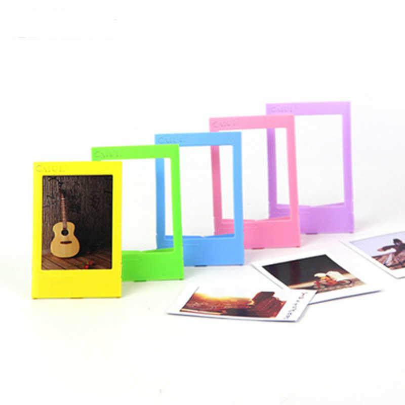 DIY Mini z tworzywa sztucznego ramka na zdjęcia ramki na zdjęcia-pasuje do Instax Mini Film do przechowywania cennych zdjęć-Fit zdjęcie około 3.9 w