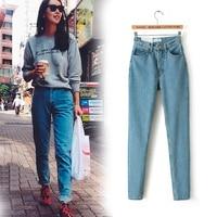 2017 New Slim Pencil Pants Vintage High Waist Jeans New Womens Pants Full Length Pants Loose