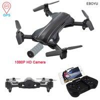 EBOYU K912 GPS FPV Drone 2.4G 4 Assi RC Quadcopter Pieghevole Drone con 1080 P HD della Macchina Fotografica Wifi Drone follow Me RC Drone RTF