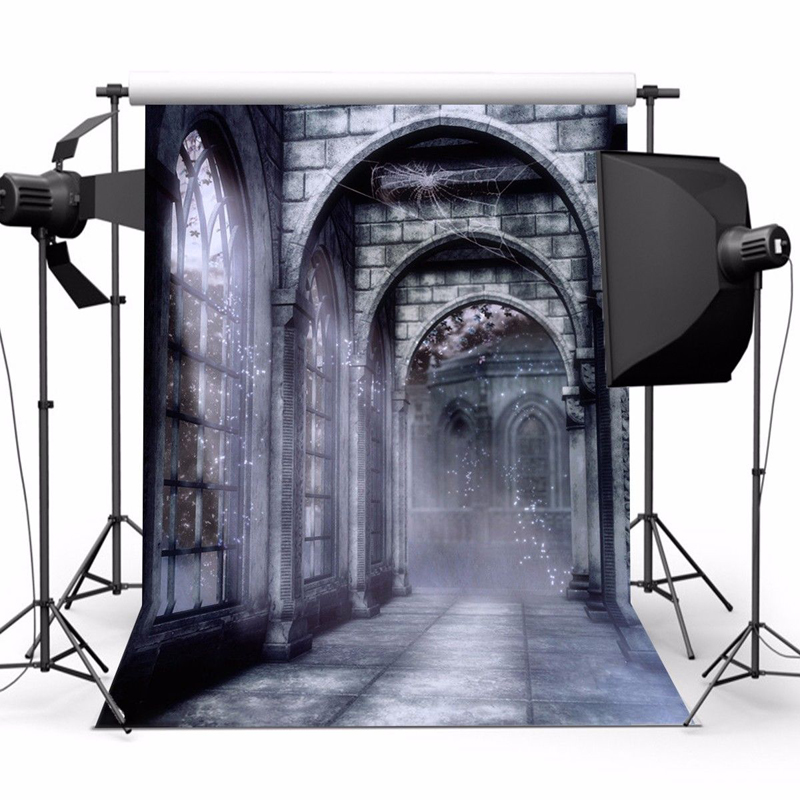 New 1pc Retro Terror Castle Photography Backdrop Computer-printed Vinyl Halloween Background Studio Photo Props 5x7ft modern holand tulip pendant lights fixture lustre home luminaire suspension pendant lamp dinning room kitchen lustres de sala