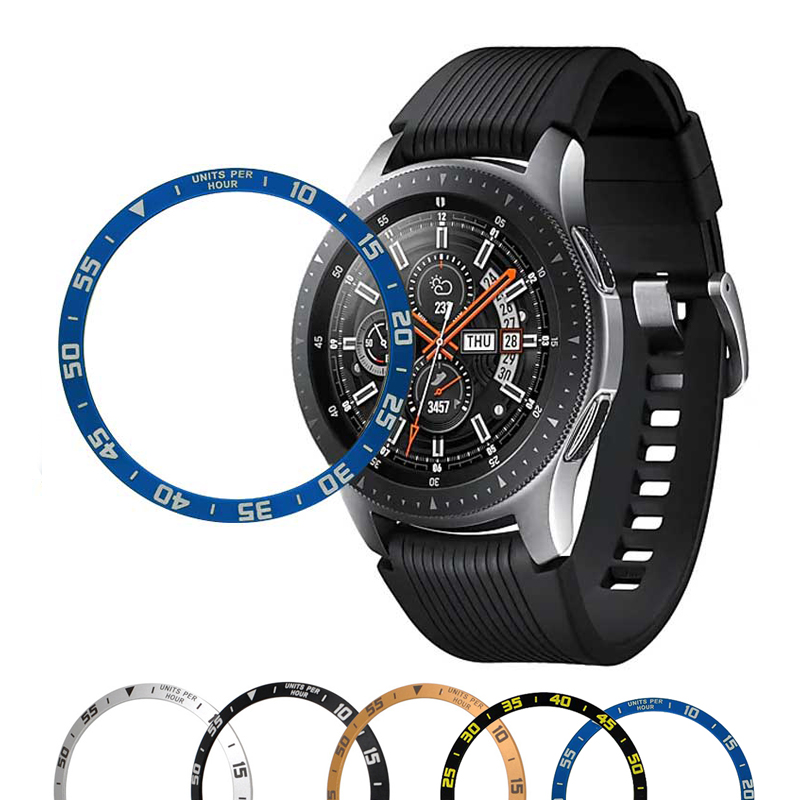 For Samsung Galaxy Watch 46mm 42mm Gear S3 Frontier Metal Ring Adhesive Case Anti Scratch Galaxy Watch Cover  Accessories
