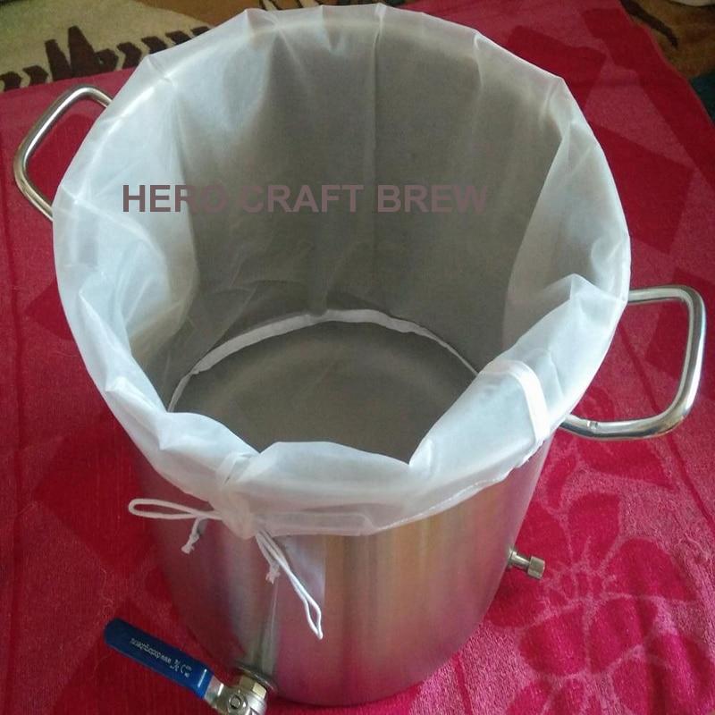 B TIPO Whisky brew filter bag 29.9 * 44.9CM cubo de filtro de cerveza bolsa de filtro de grano de malla fina