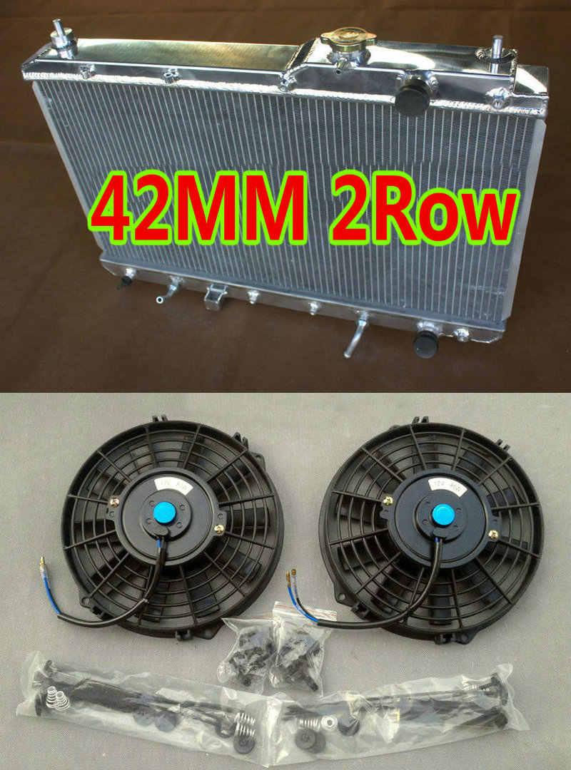 Fans Aluminum Radiator For 1997-2001 Honda CR-V L4 2.0L