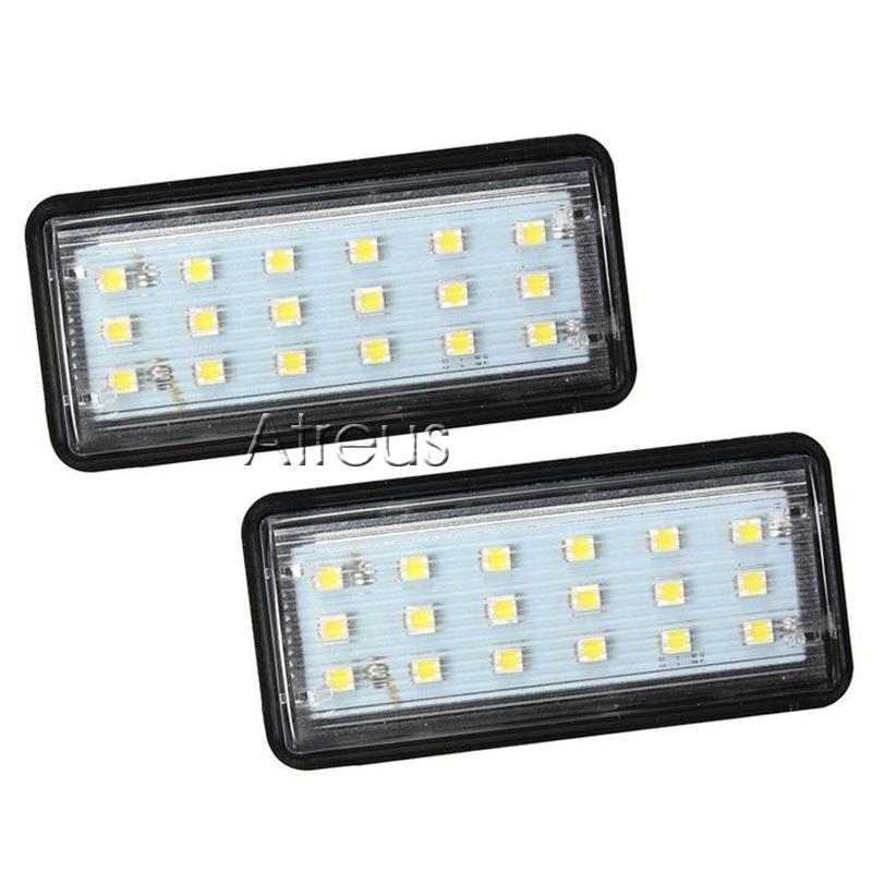 Atreus 2X Araba LED Plaka Işıklar 12 V araba-styling Için Toyota - Araba Farları - Fotoğraf 2