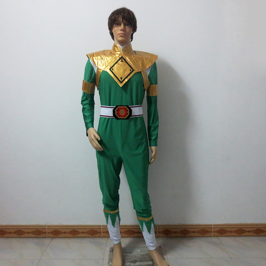 Green Ranger Costume Christmas Party Halloween Uniform Outfit Cosplay Costume Customize Any Size
