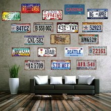 New American Car Plates Number USA License Plate Garage Plaque Metal Tin Sign Beer Bar Decoration & Buy decorative usa car plates and get free shipping on AliExpress.com