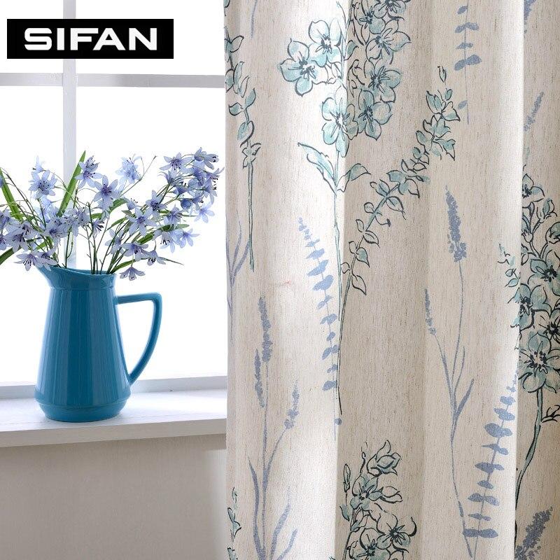 Rideaux fantaisie en lin de luxe pour rideaux de salon pour rideaux - Textiles de maison