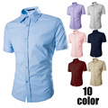 Men's Slim Fit Sexy Button Down Casual Polo Shirts Short Sleeve Shirt-J117