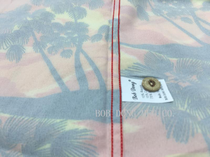 BOB DONG męskie zachód słońca Aloha, hawaje, koszule, lato z  9LsYM