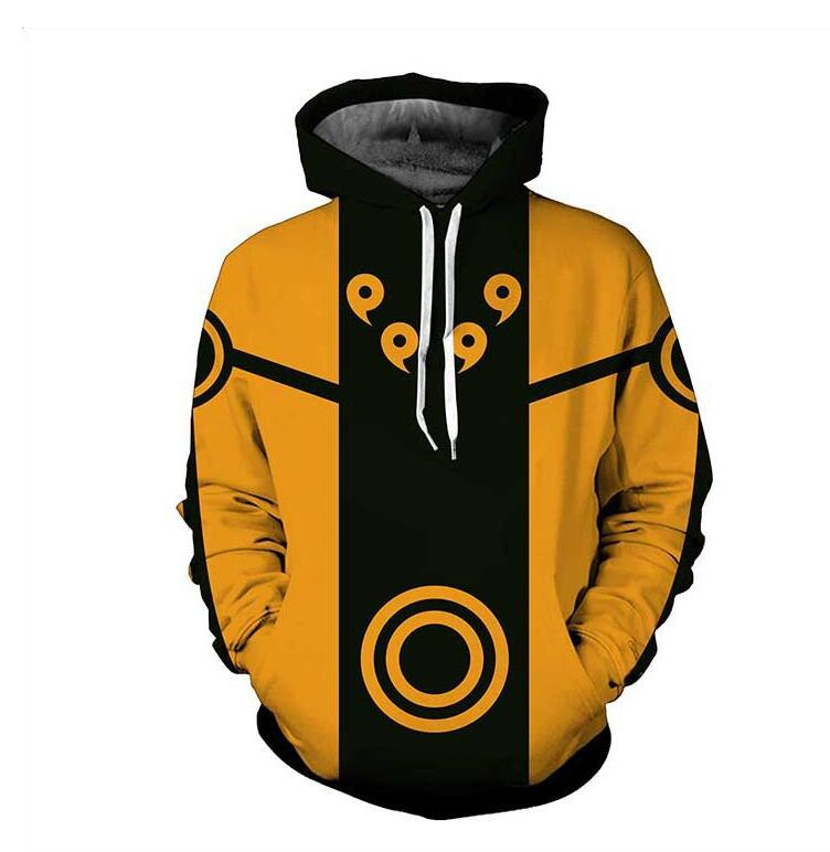 Naruto Hoodies 2019 Anime Ootutuki Hagoromo Rikudo Sennin Sweatshirt Rikudo Naruto Jacket Winter Men New Zipper Hoodies