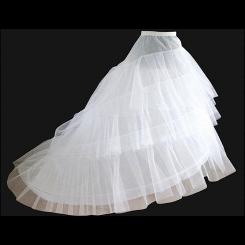 2016 Hot Sale High Quality 3 Hoops Petticoats Wedding Skirt wedding Accessories Court Train.