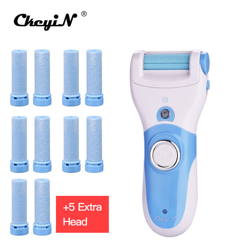 Electric Exfoliator Pedicure Rechargeable Foot Care Tool + 12 Roller Peeling Dead Skin Removal Feet Care Machine Callus Remover