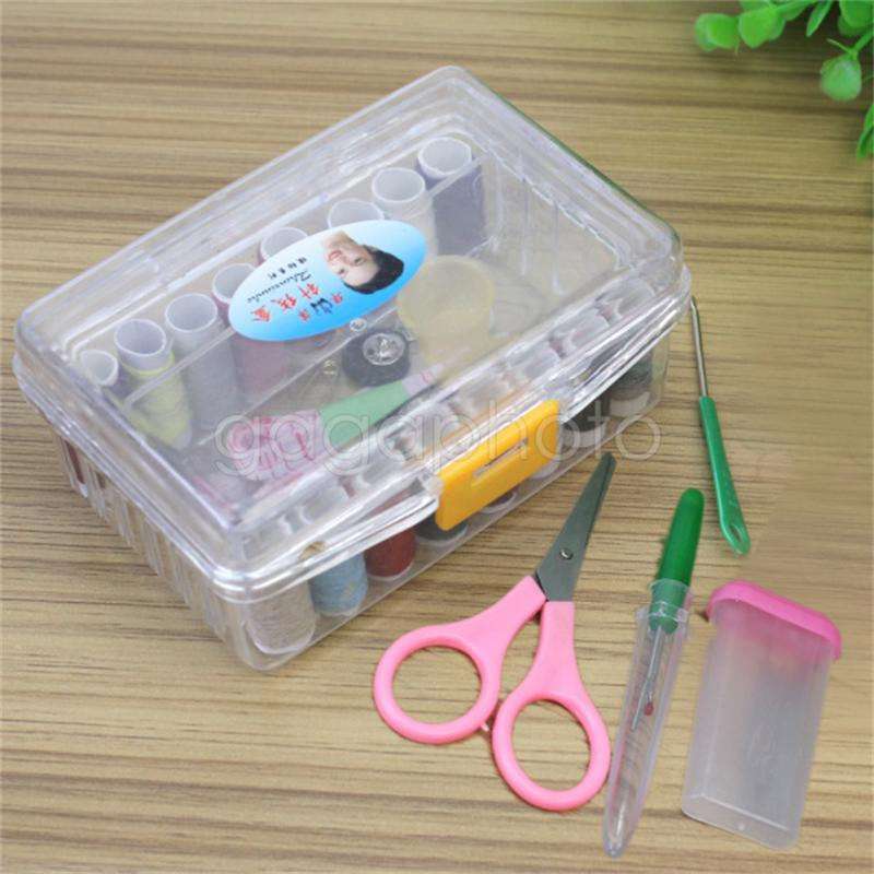 Needle Thread Spool Tape Measure Scissor Storage Box ...