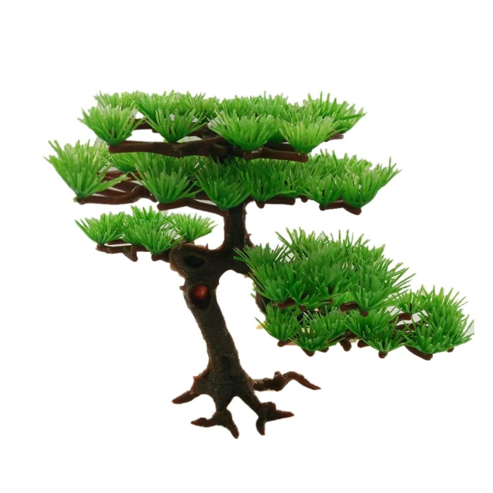 Aquarium Decoration Plastic Artificial Water Plant Pine