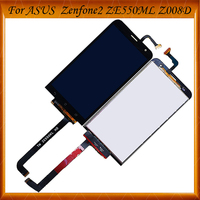 100% Working Well 5.5 For ASUS Zenfone 2 Laser ZE550KL Z00LD LCD Display Touch Screen Digitizer Panel Replacement Parts