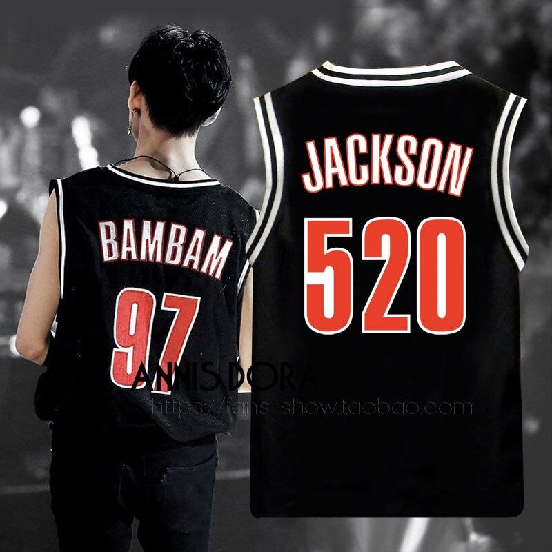 Got7 Eyes On You Bambam Mark Yugyeom Jackson Same Style Name Birthday Number Black Baseball Vest