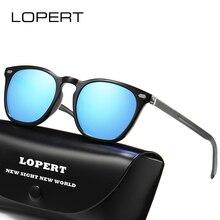 LOPERT Polarized Sunglasses Men Women Aluminum Magnesium Driving Sun Glasses Brand Designer Square Unisex Travel Eyewear De sol