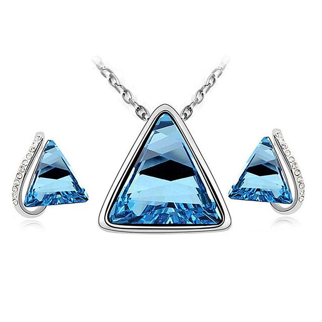 Triangle Shaped Crystal Jewelry Set