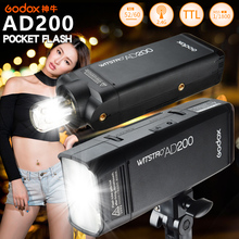 $15Coupon, GODOX AD200 200W Pocket Flash Light TTL 2.4G 1/8000s with Lithium Battery for Olympus Canon Nikon Sony Fujifilm +GIFT
