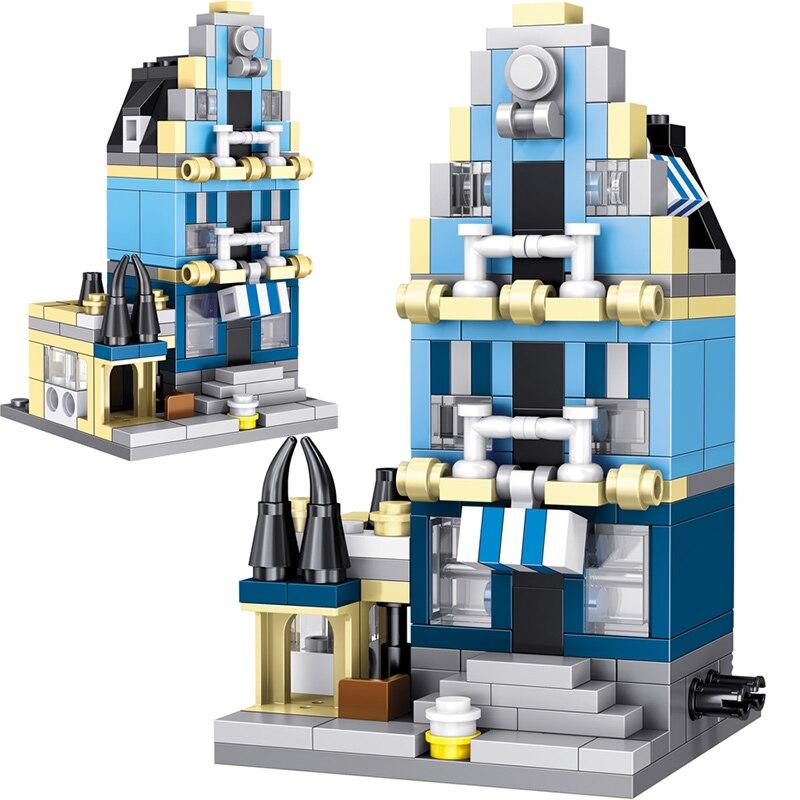 Creators Technic Architecture LegoINGLYS City Street View Mini European market Model Building Blocks KidToy Brick Toys