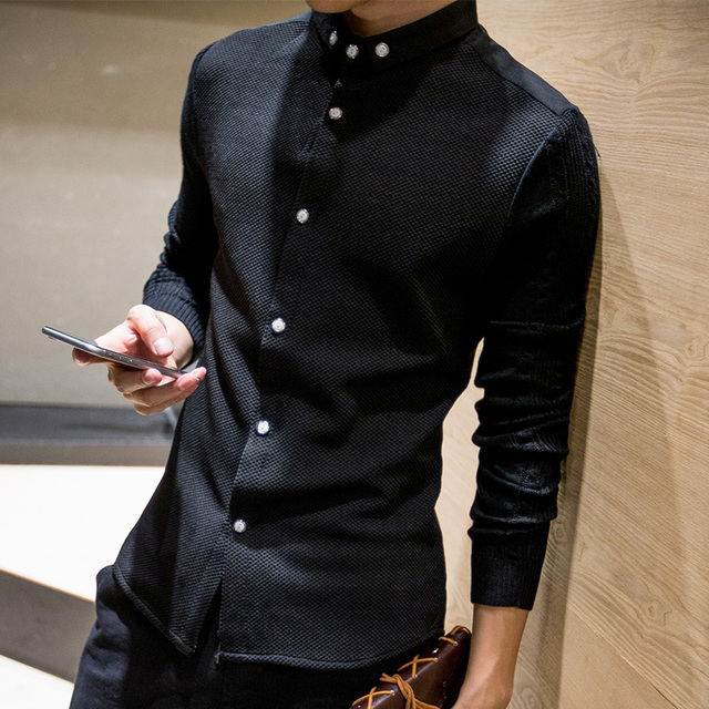 Aliexpress.com : Buy Shirts Men Long Sleeve 2015 Autumn New Unique ...