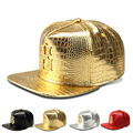 The new alloy diamond Tide brand baseball cap flat -brimmed hat Crocodile Grain hiphop hip-hop hip-hop hat wholesale