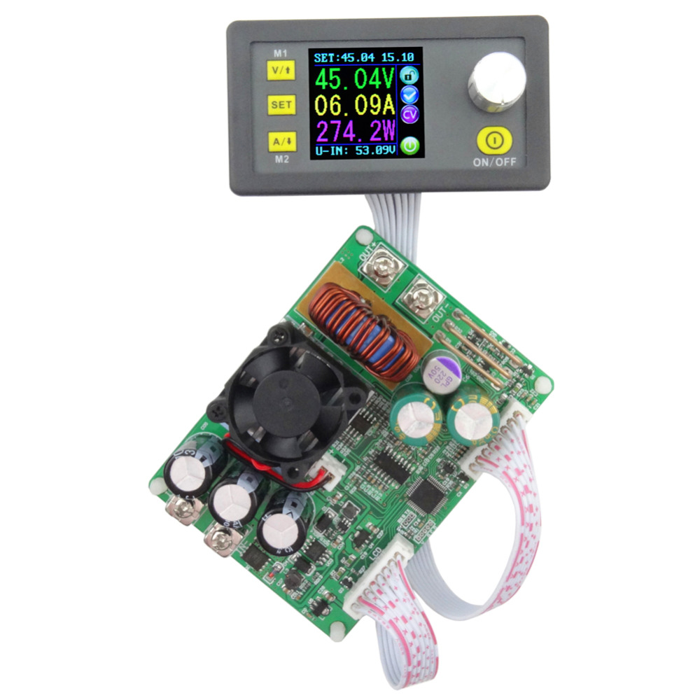 Adjustable 15A Output Current Constant Voltage Current Step-down Programmable Digital Power Supply Module constant digital voltage current meter step down dp50v2a voltage regulator supply module buck color lcd display converter