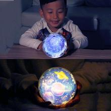 romantic flashing celestial night light creative starry LED revolve star projection table lamp children gift girl friend gift