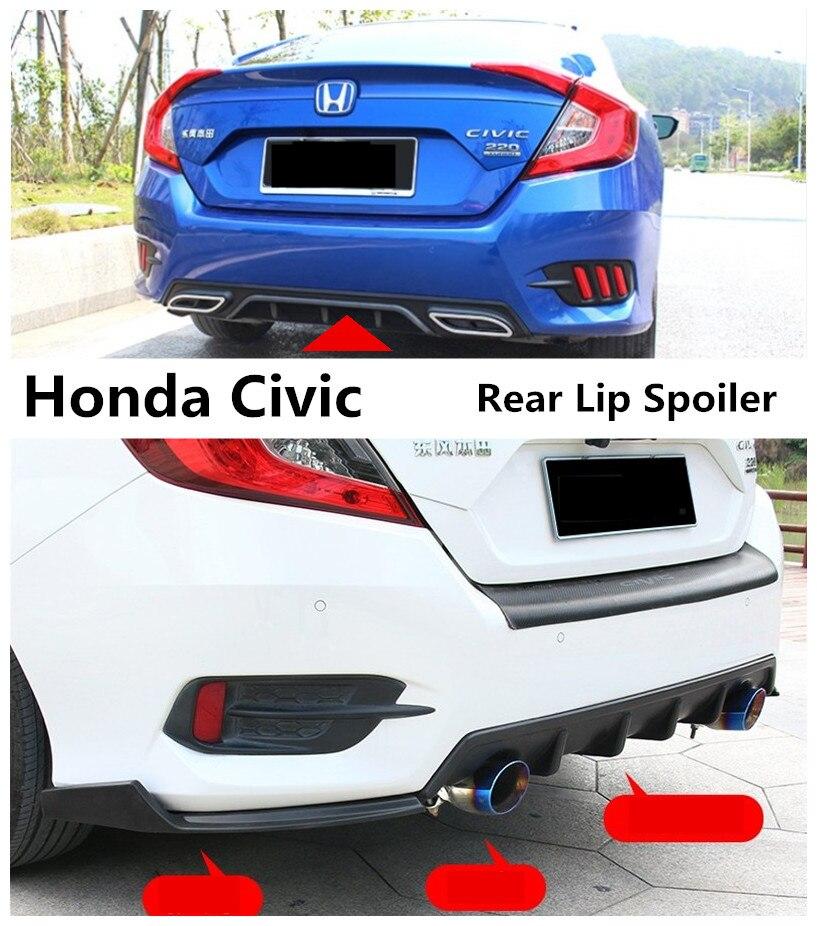 Car Rear Lip Spoiler For Honda Civic 2016 2017 2018 2019
