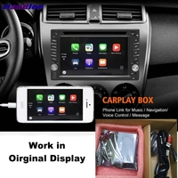 Lisislee Carplay Box подключение интерфейса камеры дисплей обновление Оригинальный дисплей для AppleAndroid