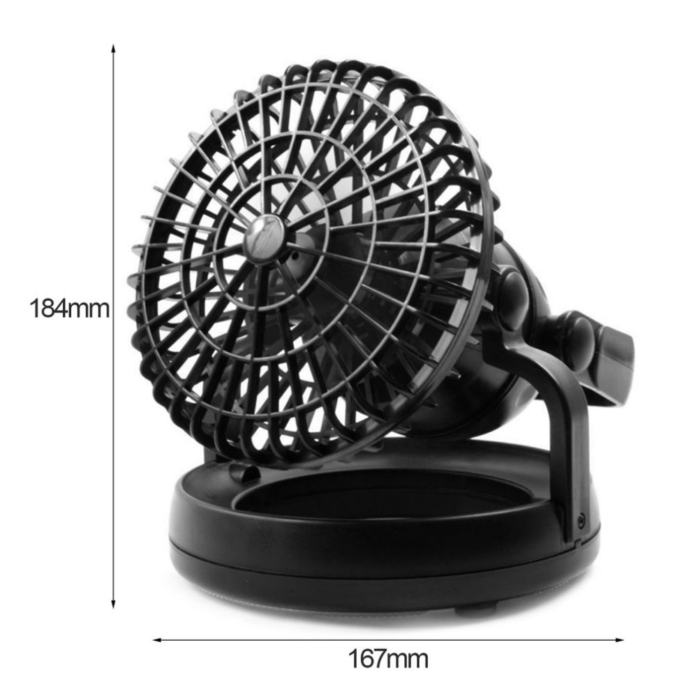 2-in-1 18 LED Camping Light Camping Fan Hanging Hook Outdoor Light Portable Weather Resistant Lamp Emergency Lamp Tools