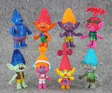 8pcs/set DreamWorks Trolls PVC Action Figures Trolls Doll Toys For Kids Christmas Gift