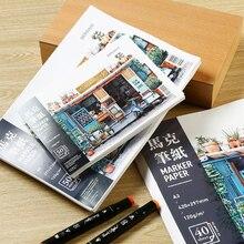 BGLN Marker Book A3/4/5 Painting Paper Beginner Hand-painted Design Graffiti Adult Student Art Supplies