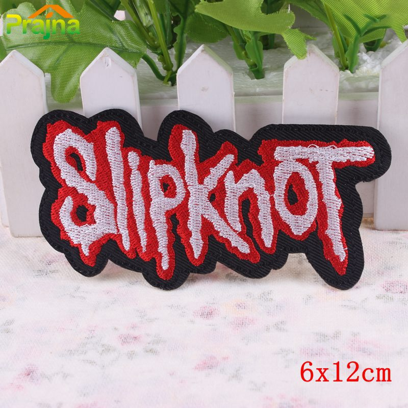 Embroidered music band patches iron on punk rock applique for clothes stickers american heavy metal music logo patches cheap in patches from home garden