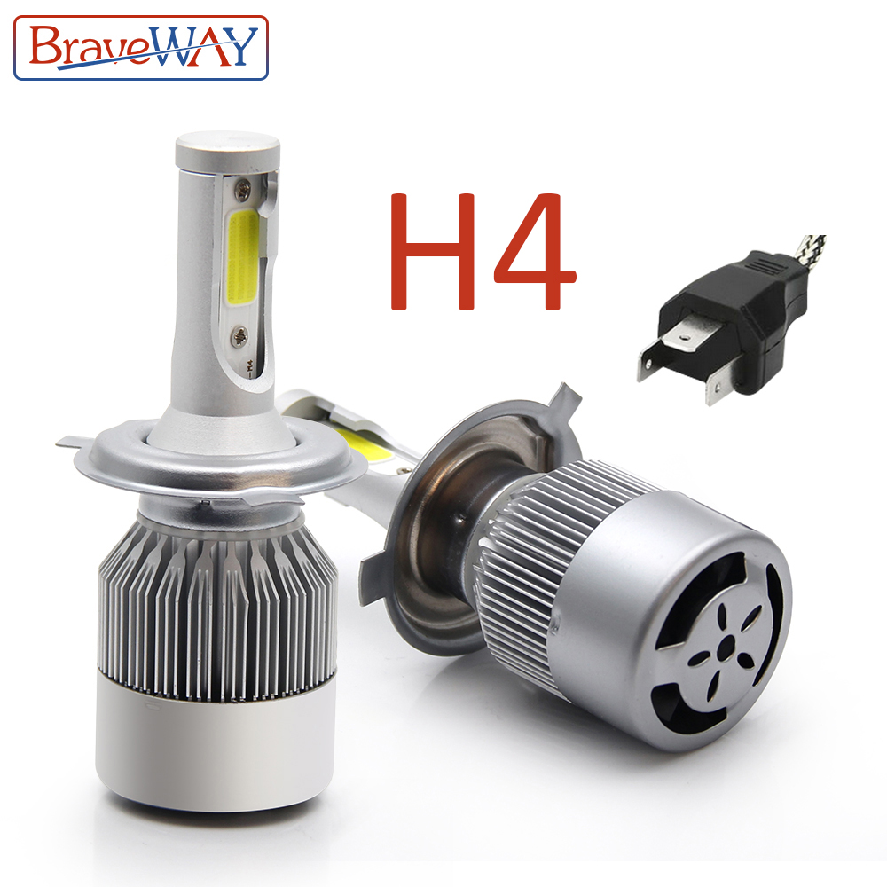 BraveWay H4 Led Phare Led H4 Ampoule Auto Lampe Led Projecteur H4 Ampoules pour Hyundai Skoda Toyota Datsun Kia Renault lada Vesta