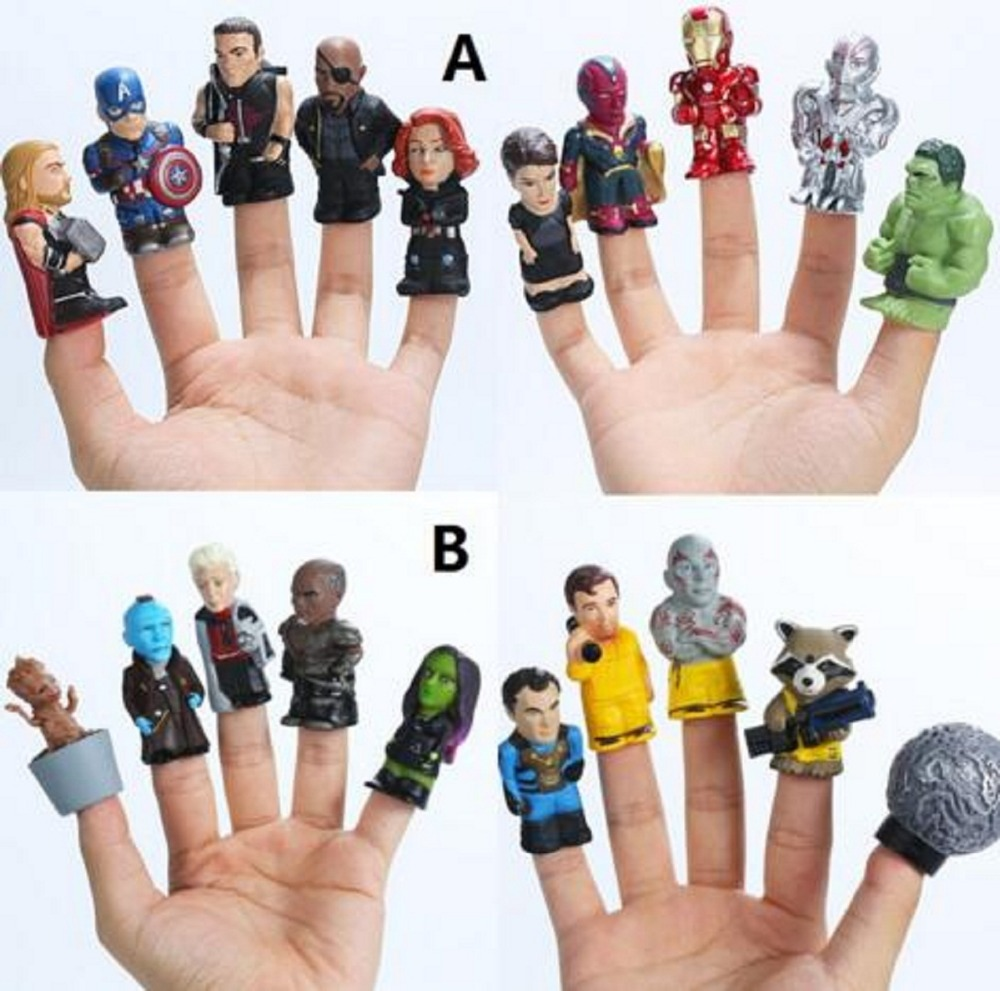 10pcs/lot Marvel avengers infinity war action figure toys Guardians of The Galaxy puppets Iron Man Hulk Captain America Doll marvel comic wallets book of the alliance anime the united states captain of america iron man green giant spider man wallet