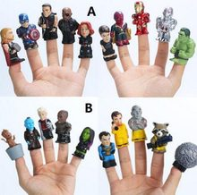 10pcs/lot Marvel avengers infinity war action figure toys Guardians of The Galaxy puppets Iron Man Hulk Captain America Doll(China)