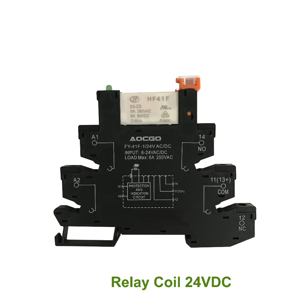 Slim Relay Mount On Screw Socket With Led And Protection