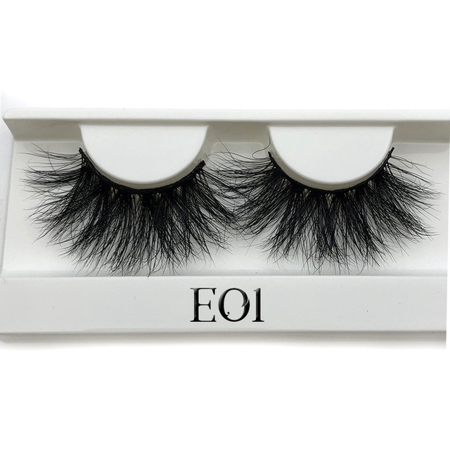 Mikiwi 25mm Mink False Eyelashes 25/50/75/100 pc Wholesale 3D Mink Lashes big white tray  Label Makeup Dramatic Long Mink Lashes 3