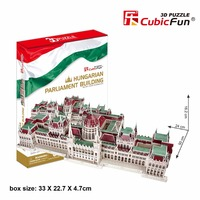 CubicFun 3D jigsaw puzzle Hungarian parliament building world famous architecture assembled model educational toy boy gift