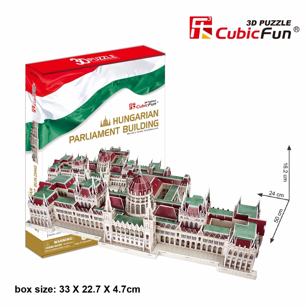 CubicFun 3D jigsaw puzzle Hungarian parliament building world famous architecture assembled model educational toy boy gift st peter s basilica cubicfun 3d educational puzzle paper